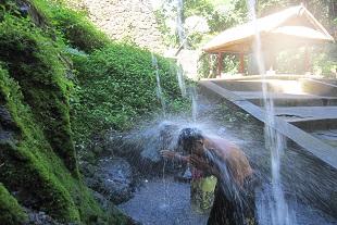 パワフルな水圧浄化