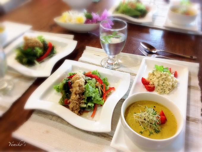 加熱しないカレー ご飯の代わりのヒカマライス  大根ドレッシングサラダ
