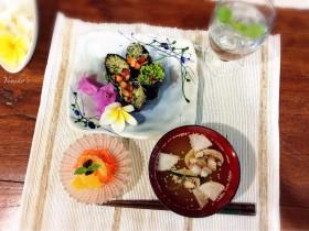 ベジ海苔巻き&お味噌汁